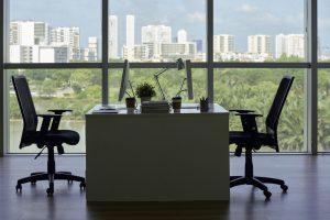 Empty company office